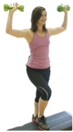 Exercising for Weight Loss: Woman with Dumbbells