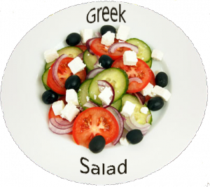 The Mediterranean Diet: Greek Salad on Plate