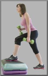 Aerobics: Woman Exercising