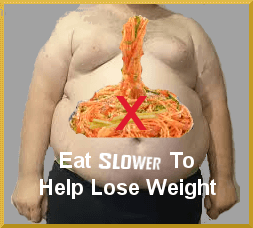 Eating slower to lose weight