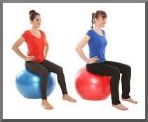Exercising for Weight Loss: Women on Exercise Ball